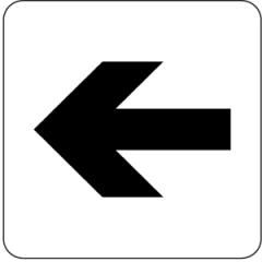 Piktogramm Richtungspfeil