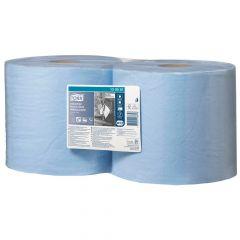 TORK Putztuchrolle 3-lagig, blau, 23,5 cm Breite