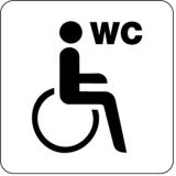 Piktogramm Behinderten WC