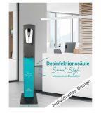 Desinfektionsmittelsäule 1000 ml mit Sensorspender Logo Desgin