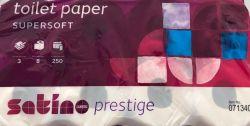 Toilettenpapier 3-lagig Premium Satino hochweiß 64 Ro./a 250 Blatt